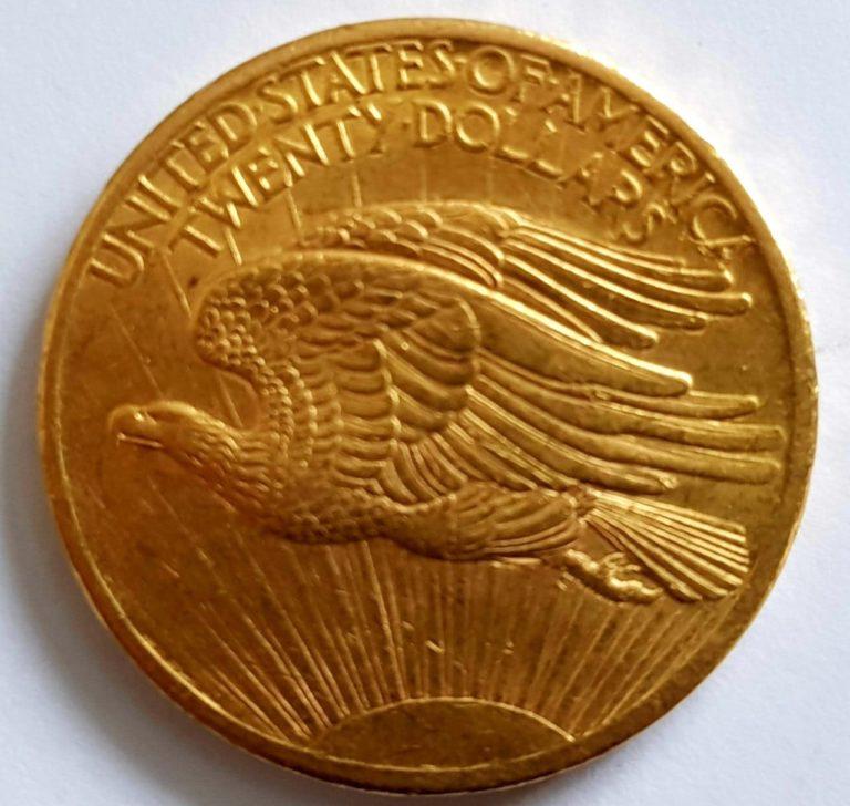 Золотая монета 20 долларов