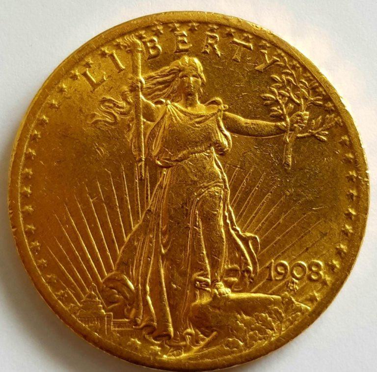 золотая монета либерти