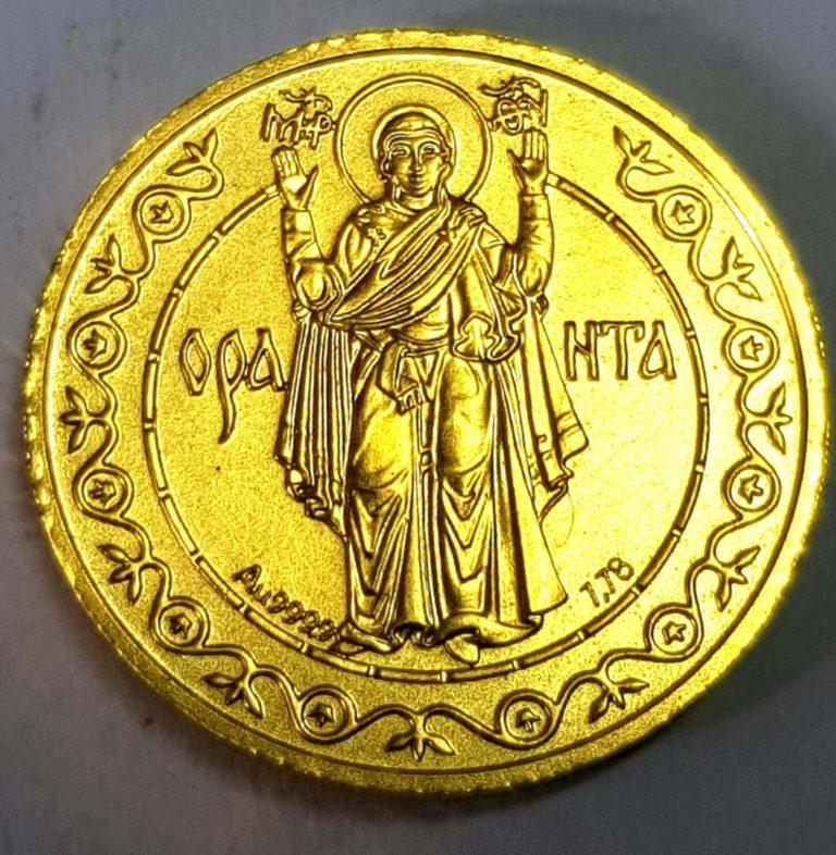 Золотая монета оранта