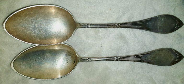 Серебренные ложки фаберже
